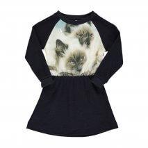 POPUPSHOP Sweatshirtkleid siamesische Katzen