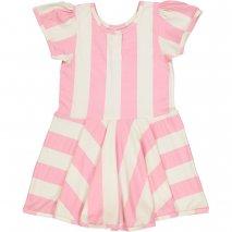 HUGO LOVES TIKI Kleid mit pinken Streifen
