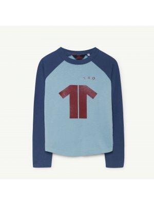 Neu: THE ANiMALS OBSERVATORY Cricket Shirt blau/kastanie