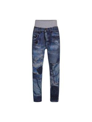 MOLO blaue Sweathose im Jeanslook Abel