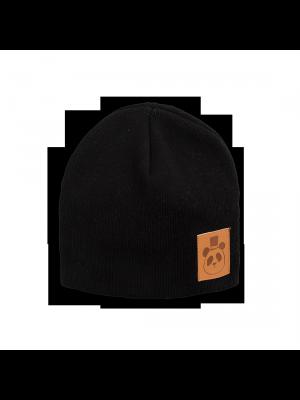 MINI RODINI Panda Mütze, schwarz