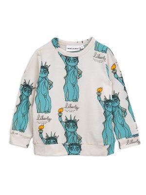 Neu: MINI RODINI kurzärmeliges T-Shirt Liberty/Freiheitsstatue