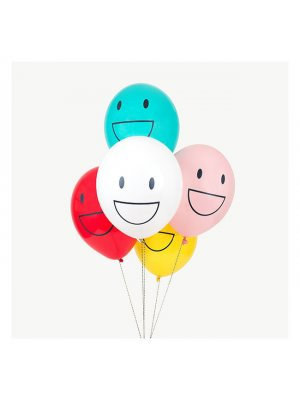 "MY LITTLE DAY Luftballons ""Happy Faces"" - 5 Stück"