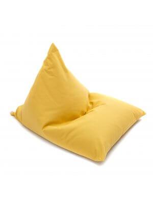 Wigiwama senf farbener Sitzsack für Kinder, Biobaumwolle