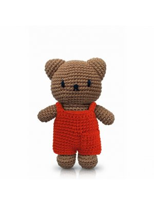 BORIS Boris-Bär (Miffys Freund) mit rotem Overall