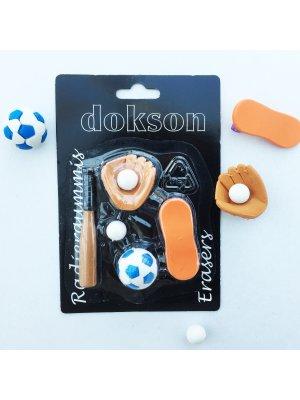 """DOKSON fun erasers """"sport"""""""