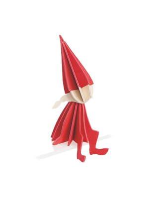 LOVI rotes Holz-Elf Mädchen (16 cm)