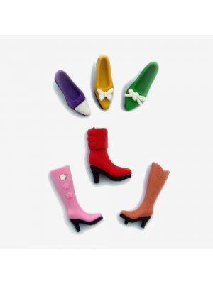 "DOKSON Radiergummi-Set ""Schuhe"", 6tlg."