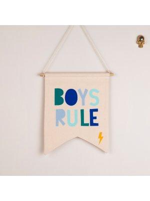 FIGG toller Wimpel für das Kinderzimmer BOYS RULE