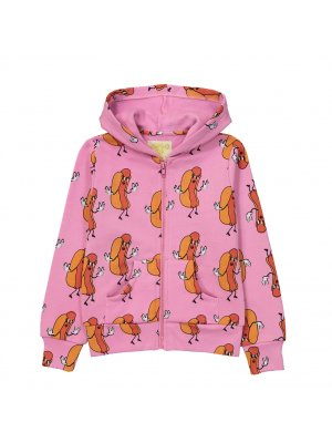 HUGO LOVES TIKI Sweatshirtjacke Hotdogs, pink