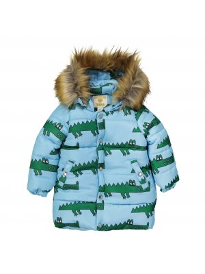 HUGO LOVES TIKI Winterjacke Krokodil, blau