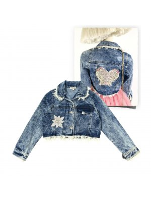 "DOLLY by Le Petit Tom ""Angel"" Jeansjacke für Kinder, Teenager und Damen"