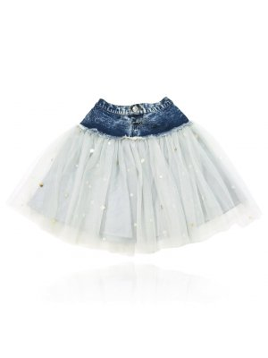 "DOLLY by Le Petit Tom Glitzer-Jeans-Tutu für Kinder und Teenager  ""Angels""-kollektion"