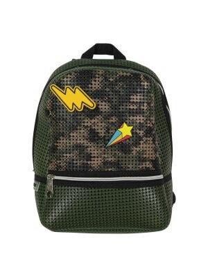 leichter Rucksack. militärgrün Schule