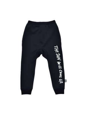 "Little Man Happy schwarze Sweatpants ""the sun will come up"""