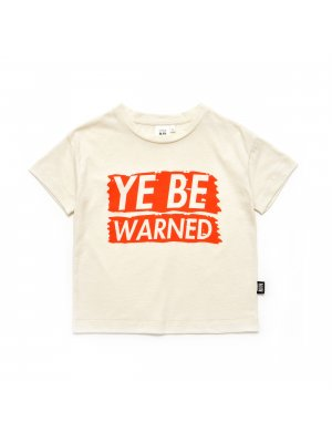 Little Man Happy box T-shirt Ye be warned