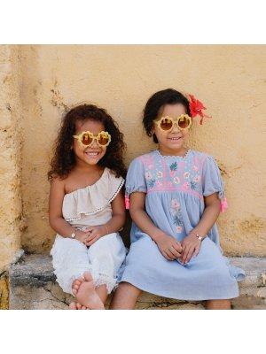 LOUISE MISHA Top/T-shirt Lona Glitzer, creme. Französische Kinder-und Teenagermode
