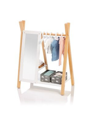 "MUSTERKIND® wooden closet ""Barlia"" for dolls"