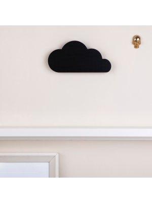 FIGG Nova Wolke - tolle Holzdeko für Regal und Wand. Schwarz. Einzeln.