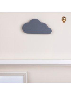 FIGG Nova Wolke - tolle Holzdeko für Regal und Wand. Grau. Einzeln.