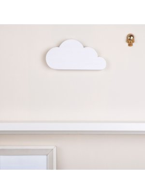 FIGG Nova Wolke - tolle Holzdeko für Regal und Wand. Weiß. Einzeln.
