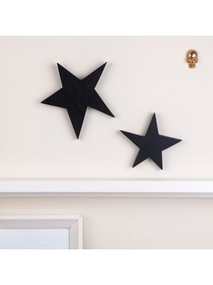 FIGG Orion Stern tolle Holzdeko für Regal und Wand.Groß. Schwarz. Einzeln.
