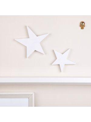 FIGG Orion Stern tolle Holzdeko für Regal und Wand.Groß.Weiß. Einzeln.
