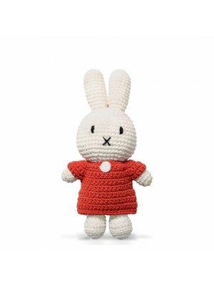 MIFFY Strickmiffy mit rotem Kleid, handgemacht