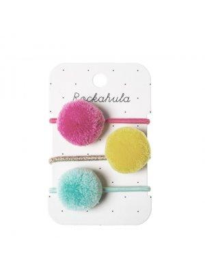 ROCKAHULA Haargummis Pom Pom. Besondere Accessoires für Kinder.