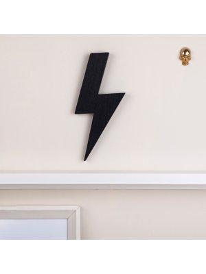 FIGG Spruce Blitz tolle Holzdeko für Regal und Wand. Schwarz. Einzeln.