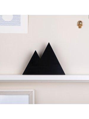 FIGG Zion doppelte Berge - tolle Holzdeko für Regal und Wand. Schwarz.