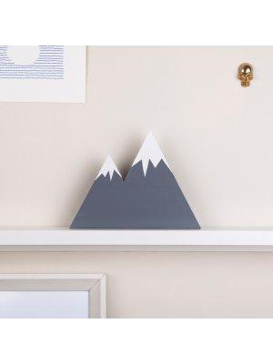 FIGG Zion verschneite Berge - tolle Holzdeko für Regal und Wand. Grau mit Weiß