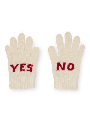 Neu: BOBO CHOSES Handschuhe YES NO, weiß