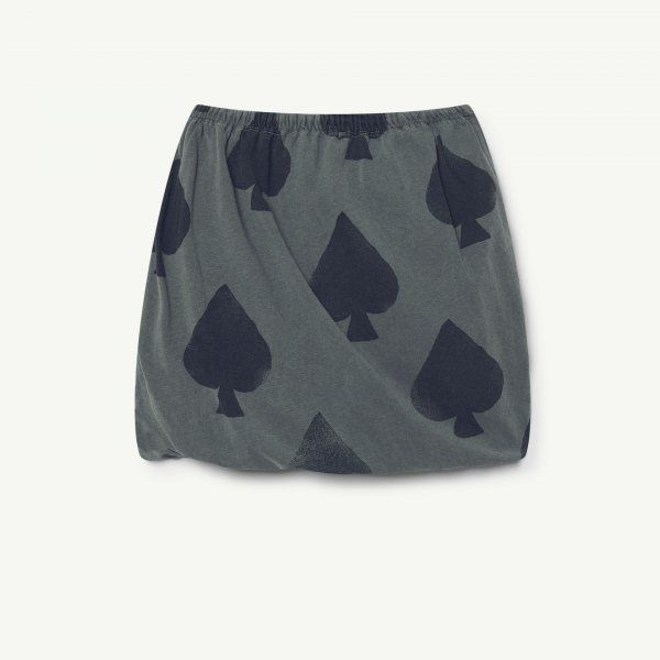 New: THE ANIMALS OBSERVATORY Kitten skirt grey spades
