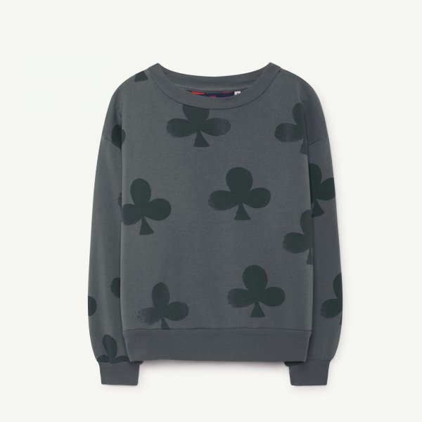 New: THE ANIMALS OBSERVATORY Bear Sweatshirt Grey clovers