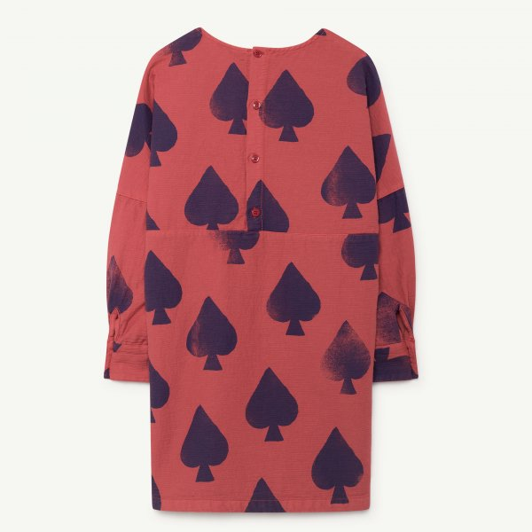 New: THE ANIMALS OBSERVATORY Swallow dress Red spades