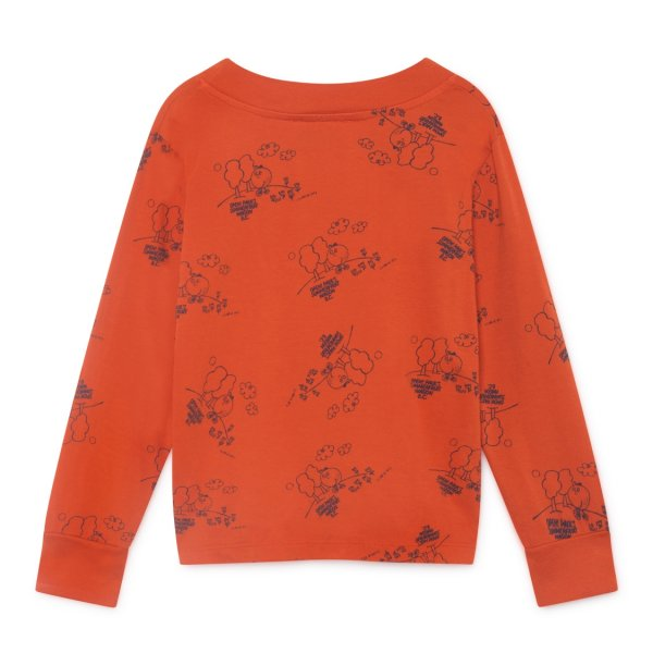 Bobo Choses long sleeved Shirt Tangerine