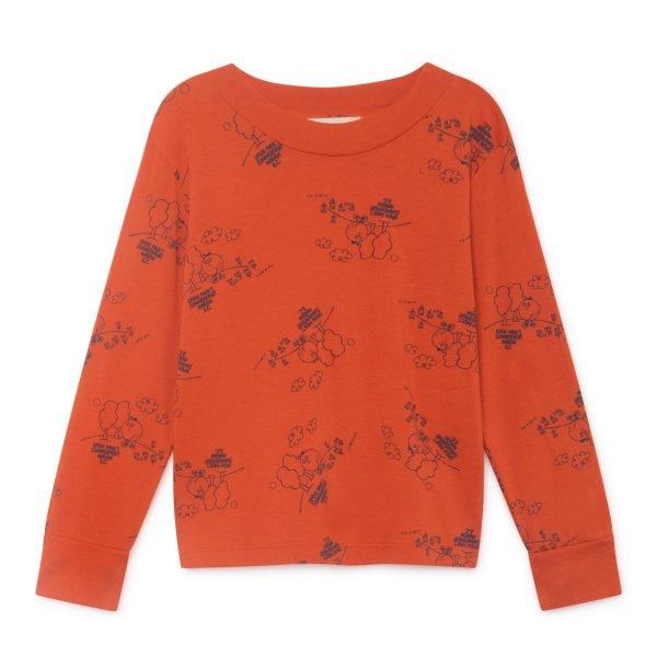 Bobo Choses Langarm- Shirt Tangerine, T-Shirts, Oberteile, Kindermode für Mädchen und Jungen von Designern online einkaufen