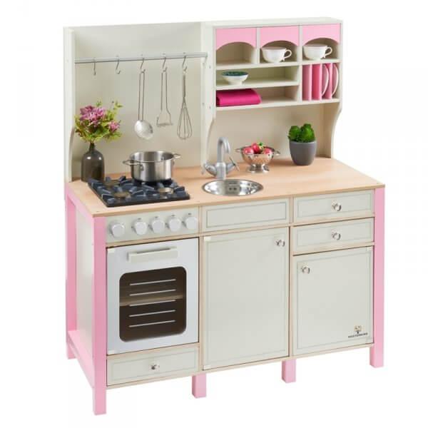 Holz-kinderküche-rosa-landhausstil