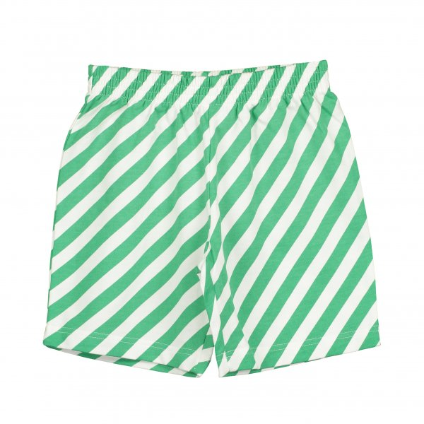 BEAU LOVES shorts with green stripes