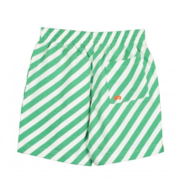 Short mit grünen/weißen Streifen aus Baumwolle