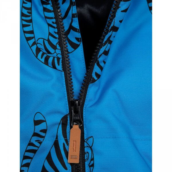Mini Rodini K2 Outdoorjacke Tiger blau detail