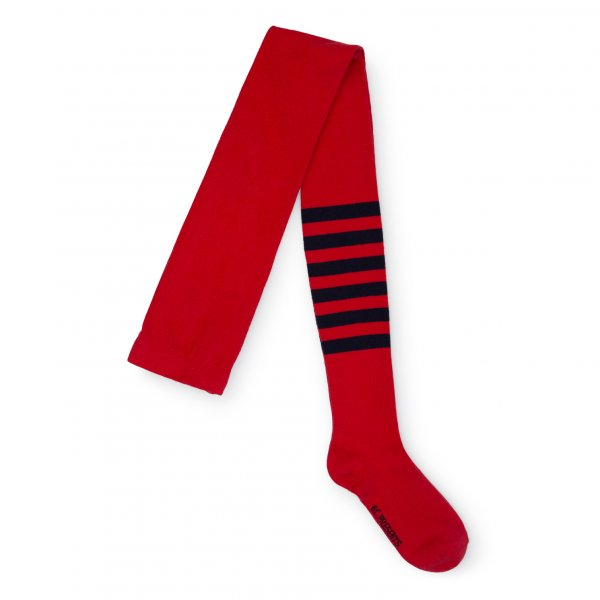 BOBO CHOSES TIGHTS RED STRIPED