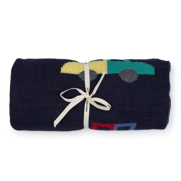New: BOBO CHOSES Cars Knitted Blanket