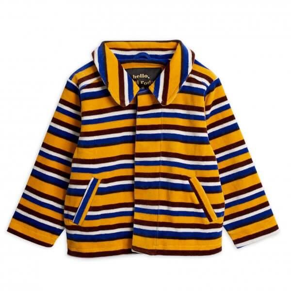 Mini rodini velour stripe kids jacket