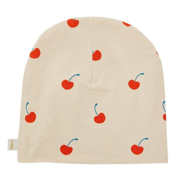 Mütze für Mädchen, Kirschen creme