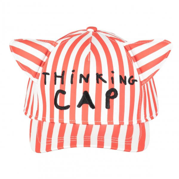 BEAU LOVES thinking cap with ears Red striped