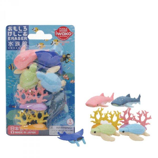 IWAKO fun erasers aquarium