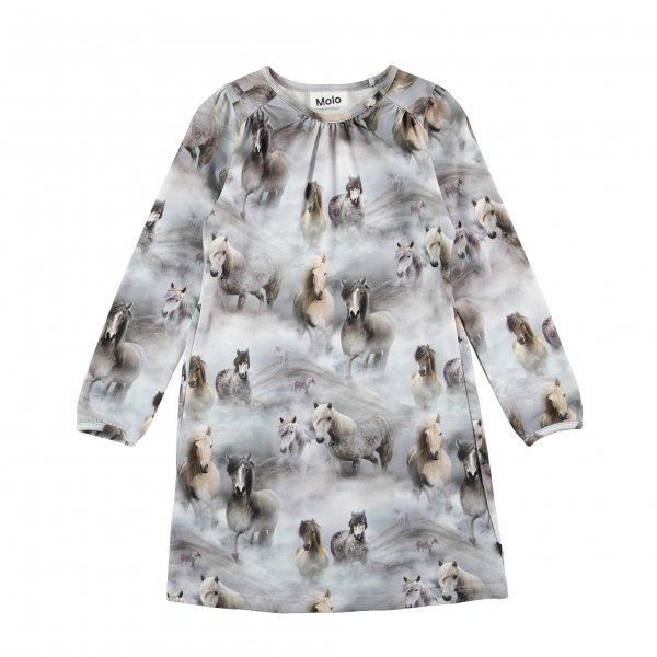 Molo kopenhagen Ceria Pferde Kleid Mädchen