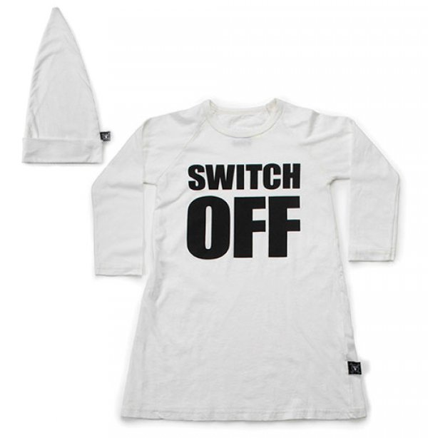"NUNUNU girl lounge set ""Switch off"" white"